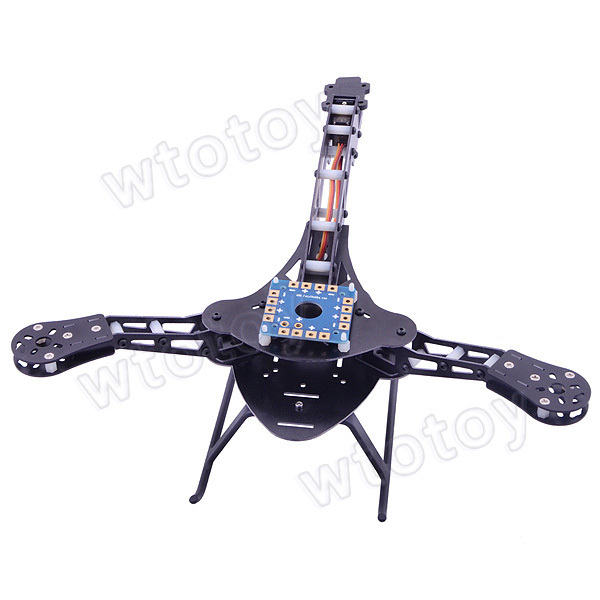 HJ-Y3 Carbon Fiber /Glass Fiber  Tricopter / Three-axis Multicopter Frame free shipping