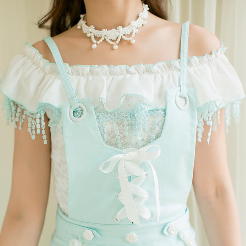 Tirantes Camisa Encaje C22ab7101 Keqi Delgada Lolita Candy De Sin Dulce Línea Princesa Lluvia qwSXRSzB