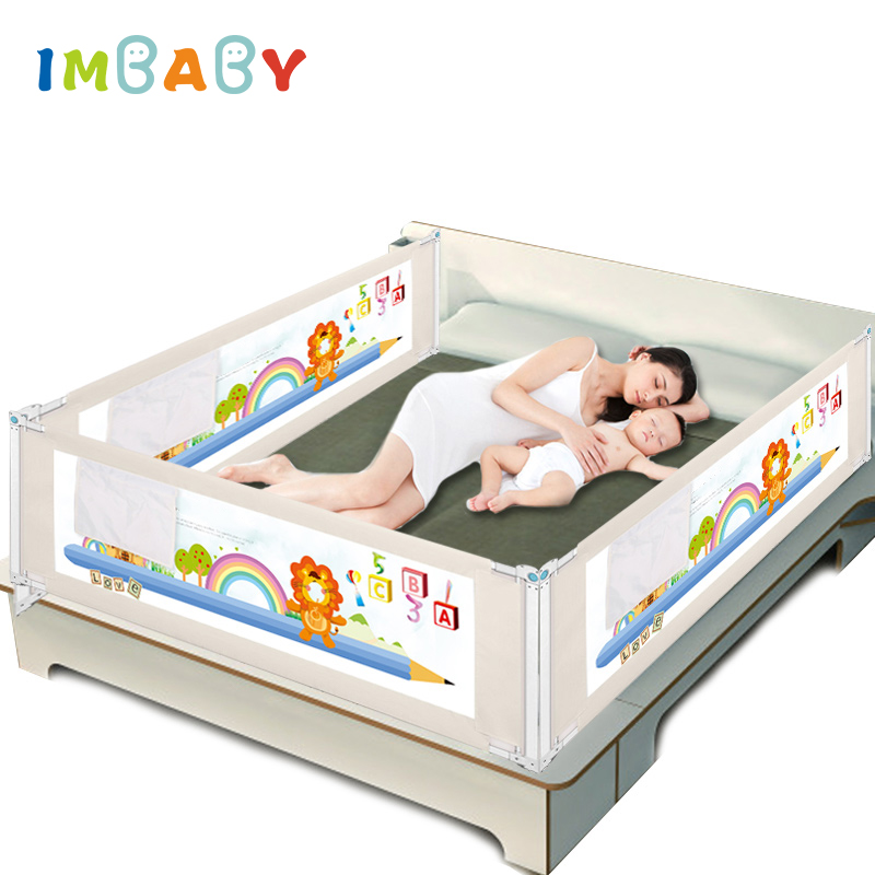 IMBABY Baby Bed Fence Barrier Bed Fence child Barrier for beds Crib Rail Barrier for beds