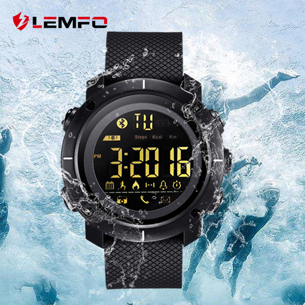 LEMFO LF19 Smart Watch Professional Sport Watches 50M Waterproof Clock Pedometer Swimming Bluetooth Sync For IOS Android Phone