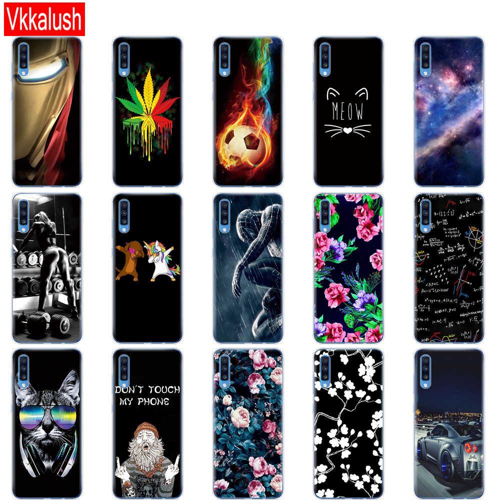 Étui pour Samsung A70 étui 2019 souple TPU téléphone couverture arrière pour Samsung Galaxy A70 étui en silicone Coque Capa A 70 A705 A705F retour