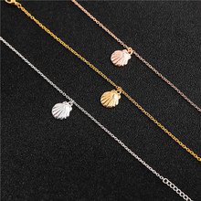 small shell conch charm pendant necklace cute 3D shell necklace sail sailor sea shell ocean beach animal pearl lucky necklace цена 2017