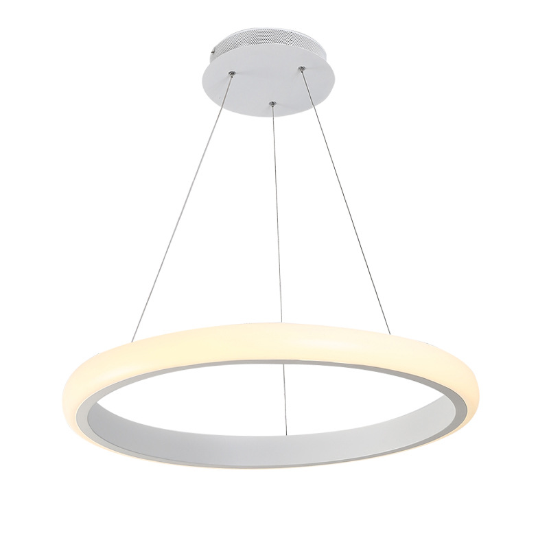Modern LED Ring Pendant Light Living Dining Room Bedroom Suspended Lamp White Acrylic Round Circle Hanging Ceiling Lamp Fixtures цена 2017