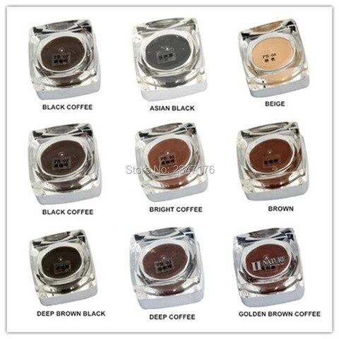 10 pces pcd maquiagem permanente microblading pigmento pasta tatuagem tinta conjunto cosm tico manual pintura
