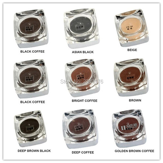 Hot sale PCD permanent makeup microblading pigment paste tattoo ink set cosmetic manual paint 5g for eyebrow tattoo tool 1