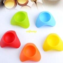 1000 шт/партия Быстрая одиночное сиденье для яиц красочная креативная силиконовая пашотница держатель Подставка для яиц сиденье