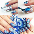 12Tips/Sheet Beauty Nail Art Manicure Stencil Stickers Nails Stamping Vinyls DIY
