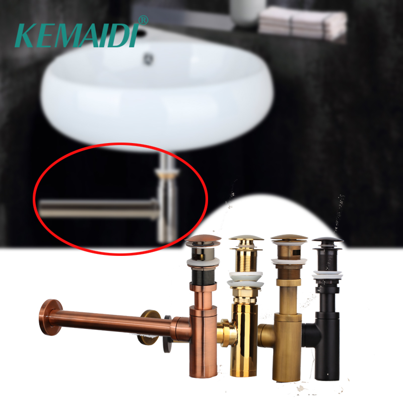 KEMAIDI Nice Bottle Traps Pop up Basin Waste Drain Basin Faucet P-Traps Waste Pipe Into The Wall Drainage Plumbing TubeKEMAIDI Nice Bottle Traps Pop up Basin Waste Drain Basin Faucet P-Traps Waste Pipe Into The Wall Drainage Plumbing Tube