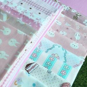 5 шт./лот, Одежда для кукол ручной работы, материал: мультяшный розовый кролик, коробка, хлопок, твил, ткань для кукол Blyth, bjd, 50*40 см