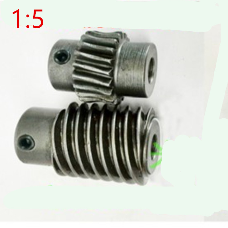 1M -20T 45#steel Speed ratio 1:5 worm gear Worm gear reducer transmission parts цена