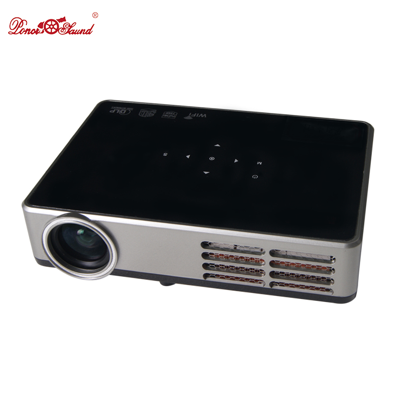 Poner Saund Mini Projector 4500 lumens Smart New Android LCD 3D WIFI Home Theater Proyector Beamer DLP Projektor 1080p HDMI/USB poner saund full hd projector 3000 lumens dlp mini smart android proyector lcd 3d wifi best home theater dlp projektor beamer