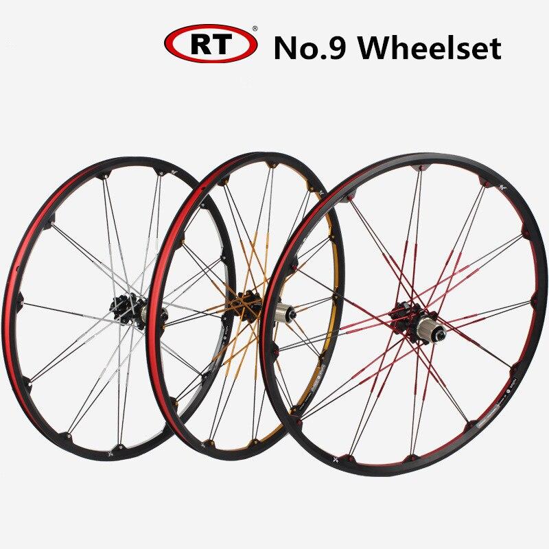 RT No.9 Wheelset 26inch Mountain bike bicycle Wheel Set Front 2 Rear 4 sealed Bearing wheels Rims цена