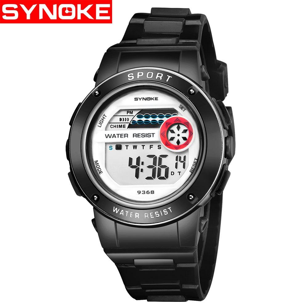 SYNOKE Children's Watches Kids Wrist Watch Back Light Alarm 30m Waterproof Gold Sport LED Display Digital Watch For Kids Boys