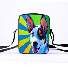 c88f77b6b95c Настраиваемые Дамы Сумка девушки мини-сумка 3D животных мультфильм милая  собака печать детская плечо перекинул женская сумка Исп..