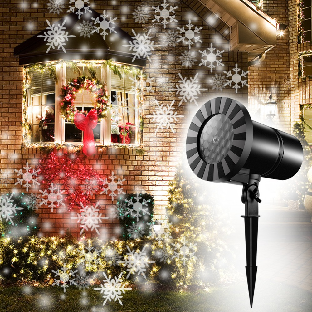 Waterproof Outdoor Christmas Snowflake Projector led laser lamp christmas decoration dynamic snowflake projector Garden Xmas недорго, оригинальная цена