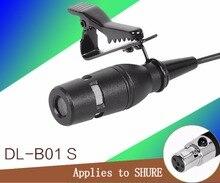 Pro Lapela Lapela Laço Clipe Microfone Condensador Cardióide Para Shure Sem Fio Transmissor Body-Pack mini XLR TA4F 4pin
