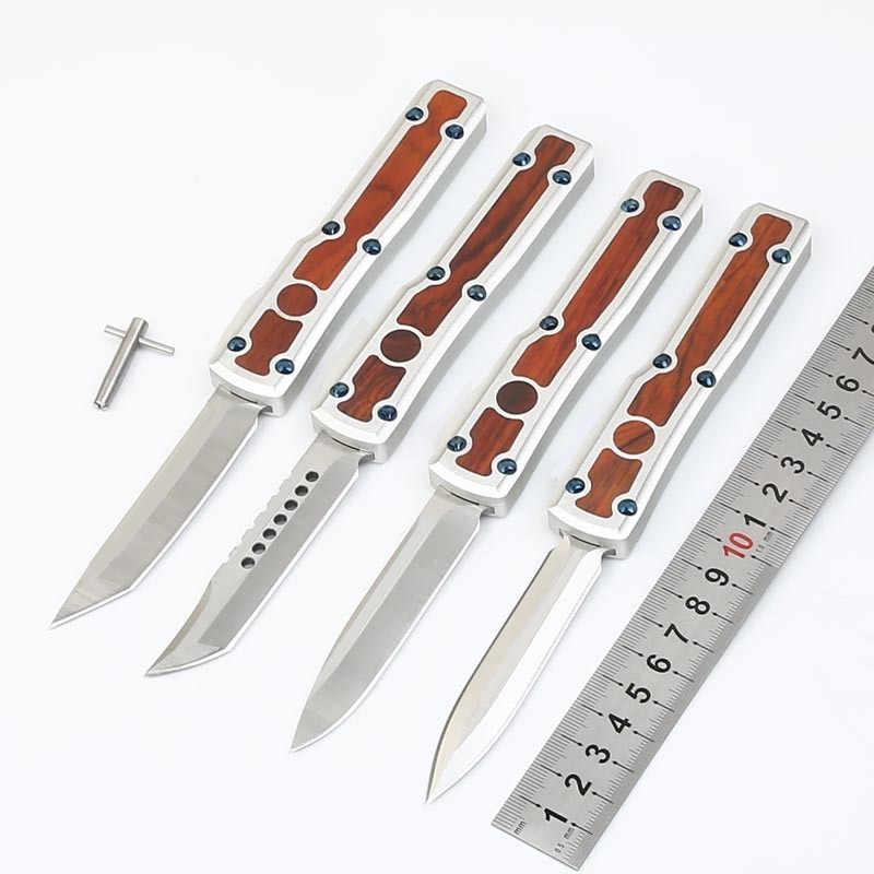 2019 OTF UT سكين S/E D2 شفرة مقبض ألمونيوم التخييم بقاء في الهواء الطلق EDC هانت التكتيكية أداة عشاء المطبخ سكين