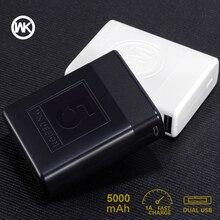 WK 5000 mAh cargador portátil Delgado Mini Banco 18650 Powerbank batería externa para el banco de energía Xiaomi iPhone X Bateria externa