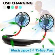 Мини USB портативный вентилятор шейный вентилятор с перезаряжаемой батареей маленькие настольные вентиляторы ручной охладитель воздуха кондиционер для комнаты