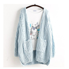 Mori Girl Spring Women Sweet Plus Size Casual Cute Loose Cardigan Solid Outerwear Lolita Cute Kawaii Female Sweater Ruffle U218