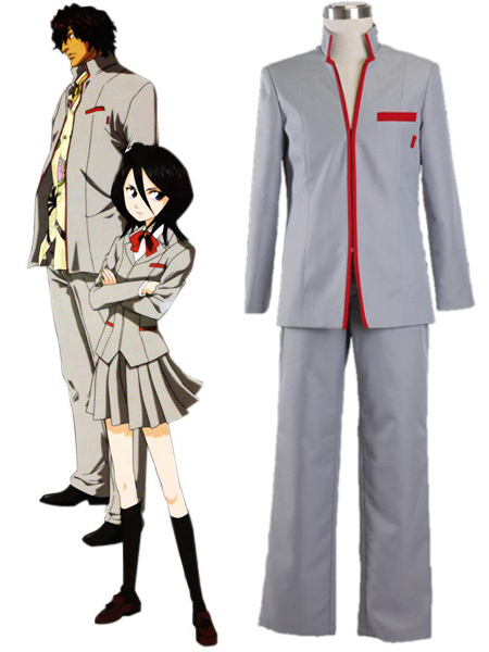 Free Shipping Bleach Karakura High School Boy's Winter School Uniform Anime Cosplay Costumes