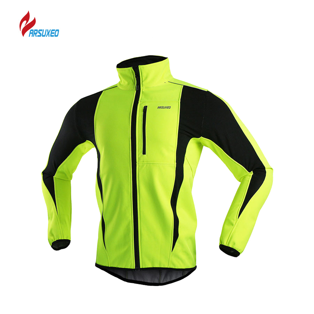 цена ARSUXEO Cycling Jacket Winter Warm Up Bicycle Clothing Windproof Waterproof Cycling Rain Jacket MTB Bike Jersey Ropa Ciclismo онлайн в 2017 году