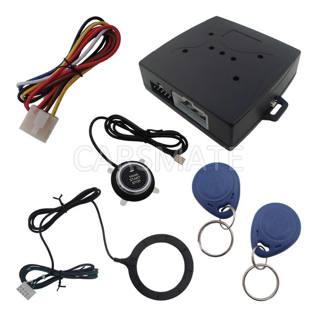 Super Chave Inteligente Rfid Sistema de Alarme de Carro Com Botão Iniciar & Transponder Imobilizador Do Motor Bloquear Ou Desbloquear
