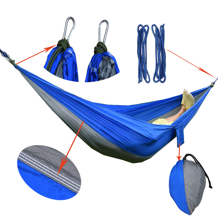 2017 2 people Hammock Camping Survival garden hunting travel Double Person Portable Parachute outdoor furniture sleeping bag wholesale portable nylon parachute double hammock garden outdoor camping travel survival hammock sleeping bed for 2 person
