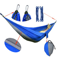 2017 2 People Hammock Camping Survival Garden Hunting Travel Double Person Portable Parachute Outdoor Furniture Sleeping