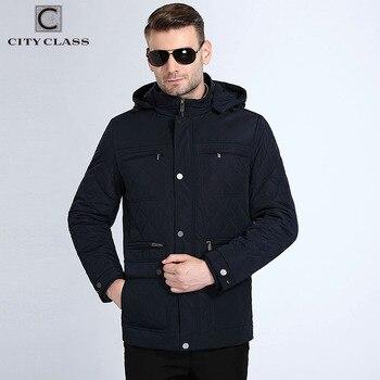 Autumn Jackets Coats Hat Detachable by City Class 2018