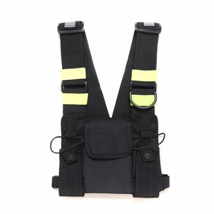 Image 1 - Abbree Bright Green Radio Chest Harness Chest Front Pack Pouch Holster Vest Rig Carry Case for Two Way Radio Walkie Talkie