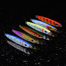 Iron plate jig lead fish 10cm/50g metal Tackle Wobblers squid jigs Submerged type soft plastic lures Bionic bait accessories