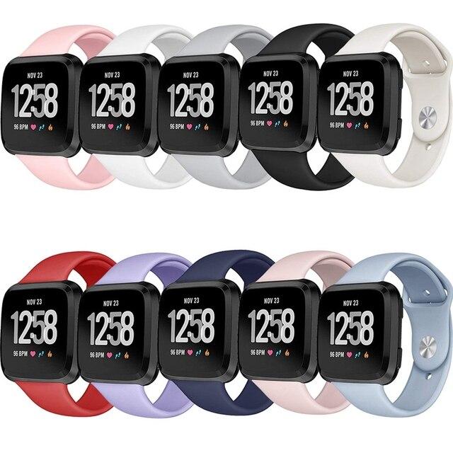 Silicone Smartwatch Wrist Band Bracelet For Fitbit Versa Strap Reverse Watch Buckle Replacement for Fitbit Versa Lite strap