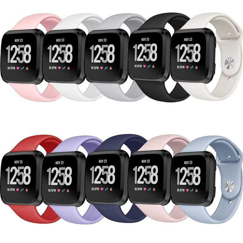 Силиконовые наручные Смарт-часы Браслет для Fitbit Versa ремешок часы Reverse Пряжка Замена для Fitbit Versa Lite ремешок