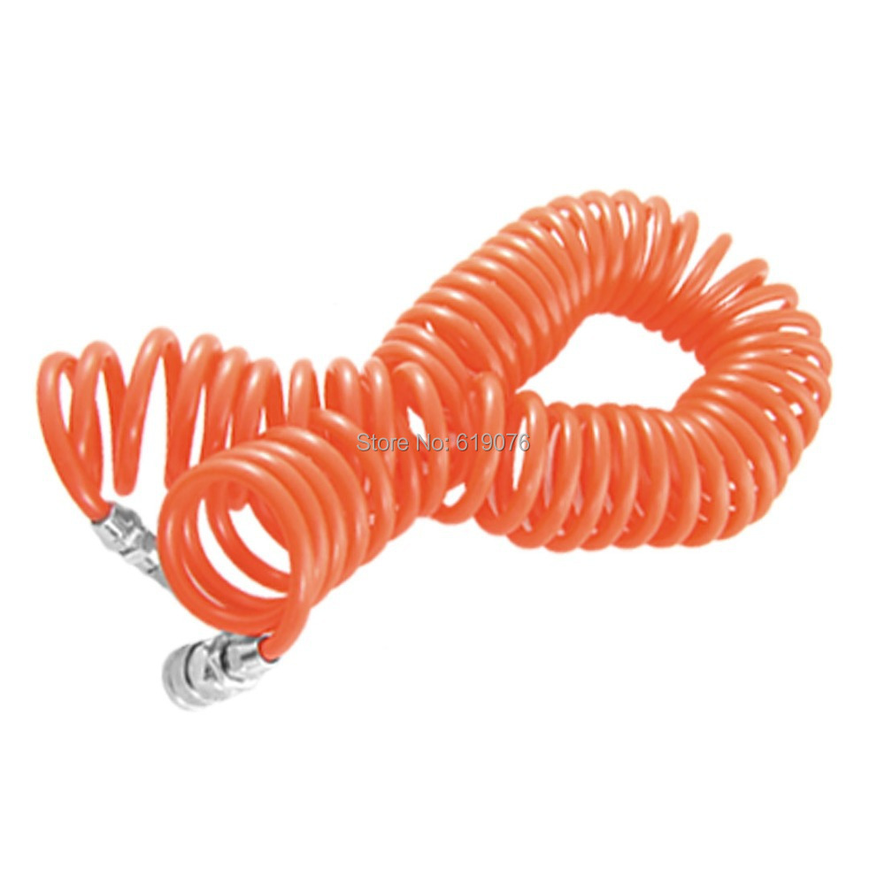 1/2 Quick Connector 8mm x 5mm 9M Air Recoil Hose Pu Tube Pipe pneumatic quick fittings 8mm x 5mm pu 6m air recoil hose pu tube pipe