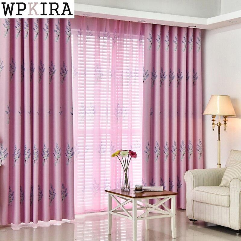 adegan alam hijau bunga jendela skrining tulle tirai untuk ruang tamu menyesuaikan tipis rumah tekstil
