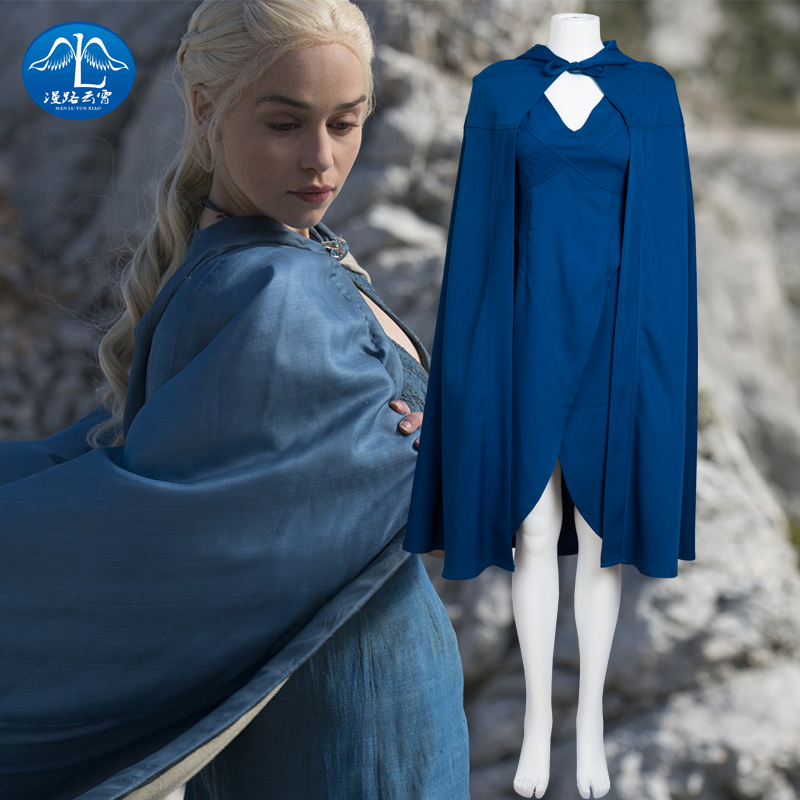 Hot TV Shows Game of  Thrones Mother Dragons Cosplay Costume Halloween Party