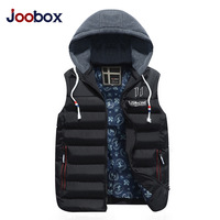 JOOBOX Brand 2017 New Winter Vest Men Fashion Slim Coat Casual Cotton Zipper Waistcoat Warm Thick