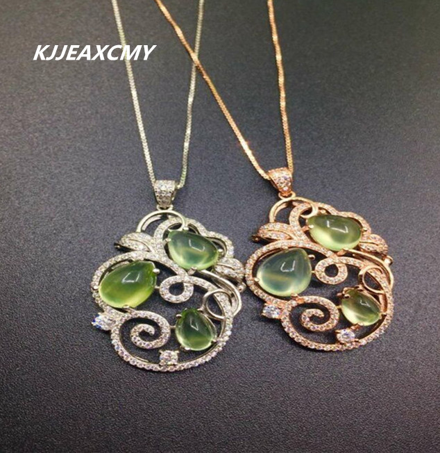 KJJEAXCMY boutique jewelry,Natural stone pendants, pendants, jewelry wholesale, S925 sterling silver wholesale wholesale