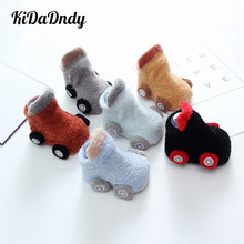 Baby Boys Girls Socks Cute Cartoon Anti-slip Breathable Soft Cotton Thicker Toddler GXY280
