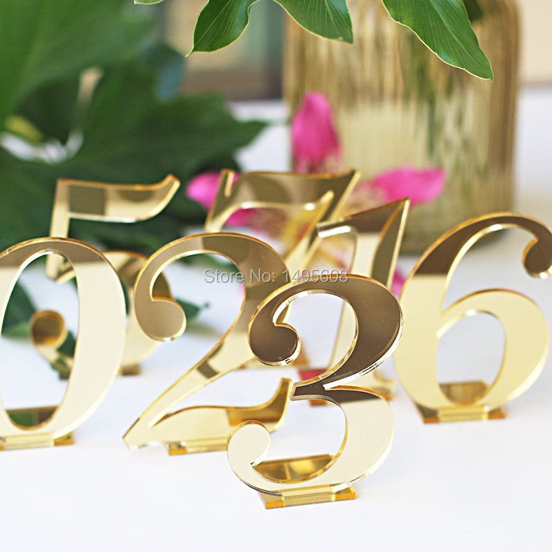 Acrylic Table Numbers for Weddings and Events Standing Numbers Gold Silver Acrylic Chic Wedding Decor Centerpieces