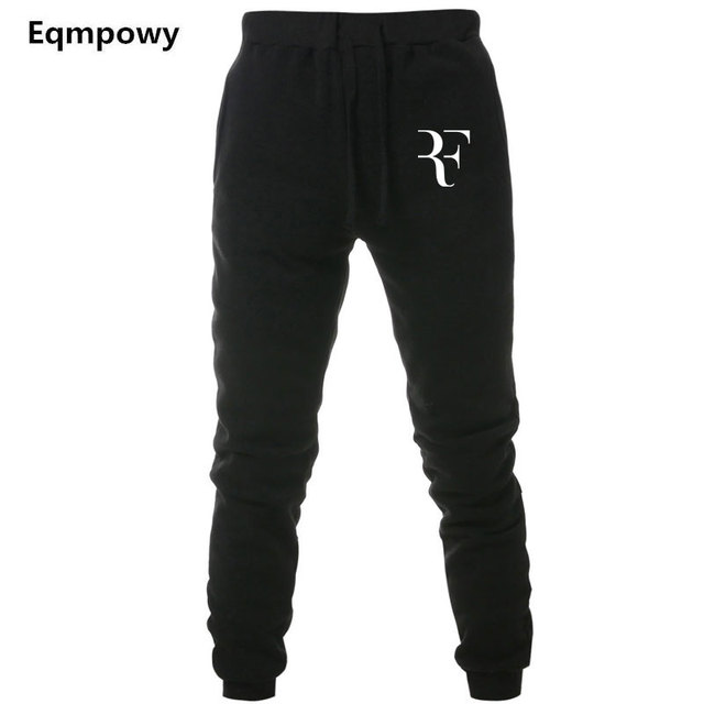 dc544066 Mens Joggers Casual Roger Federer RF Pants Fitness Men Sportswear Tracksuit  Bottoms Sweatpants Trousers Black Jogger Sweat Pants