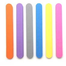 1 PC 17.8x2x1.2cm Pro Double Sided Manicure Nail File Sanding Boards Pedicure Tool Grit 100/180