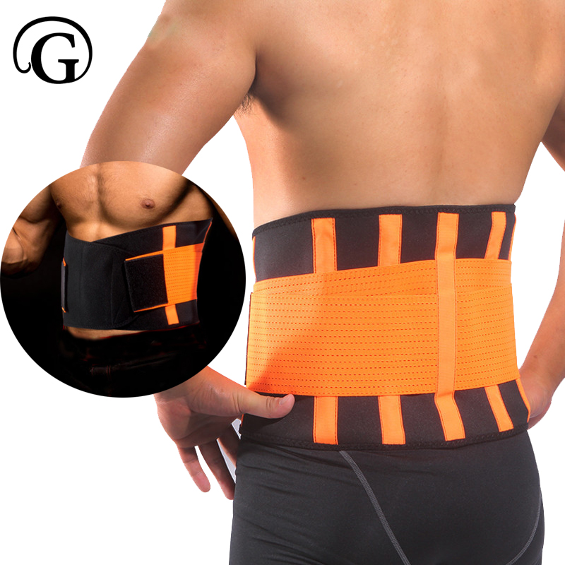 PRAYGER sweat belt Waist Trimmer Belt Adjustable Belly Waist Trainer Slimming Belt Waist Protector Trimmer Support band