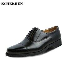2017 г. винтажные из мягкой кожи на шнуровке Мужские модельные туфли с острыми носками мужские деловые туфли Великобритании Оксфордские туфли для мужчин