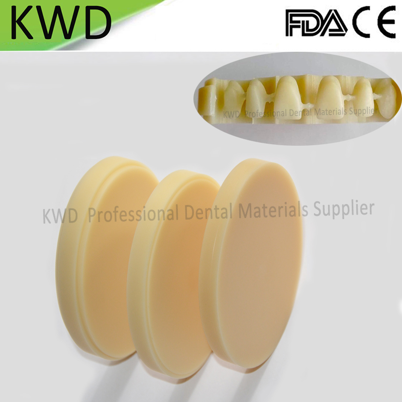 5 Pieces Lot Dental Lab Wieland System PMMA Blocks for Anterior and Posterior Teeth Restoration OD98mm
