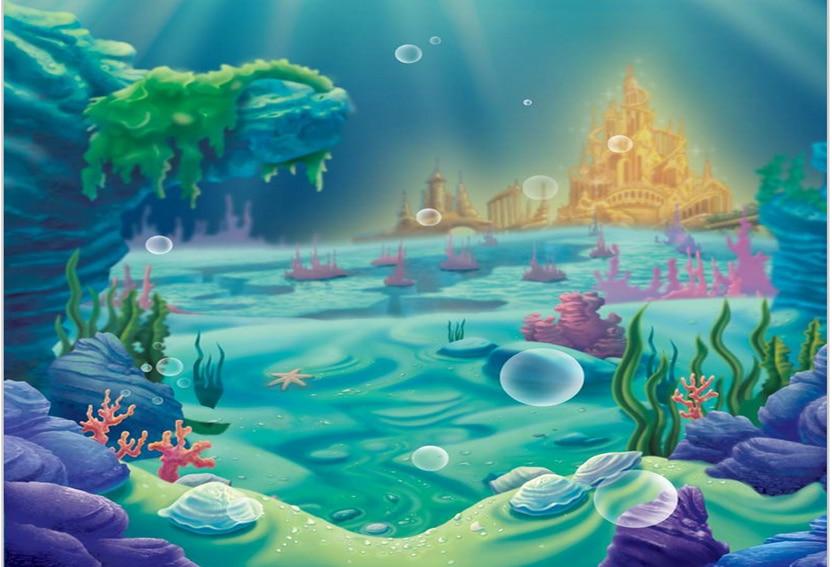Aliexpress Com Buy 5x7ft Mermaid Under Sea Bed Caslte