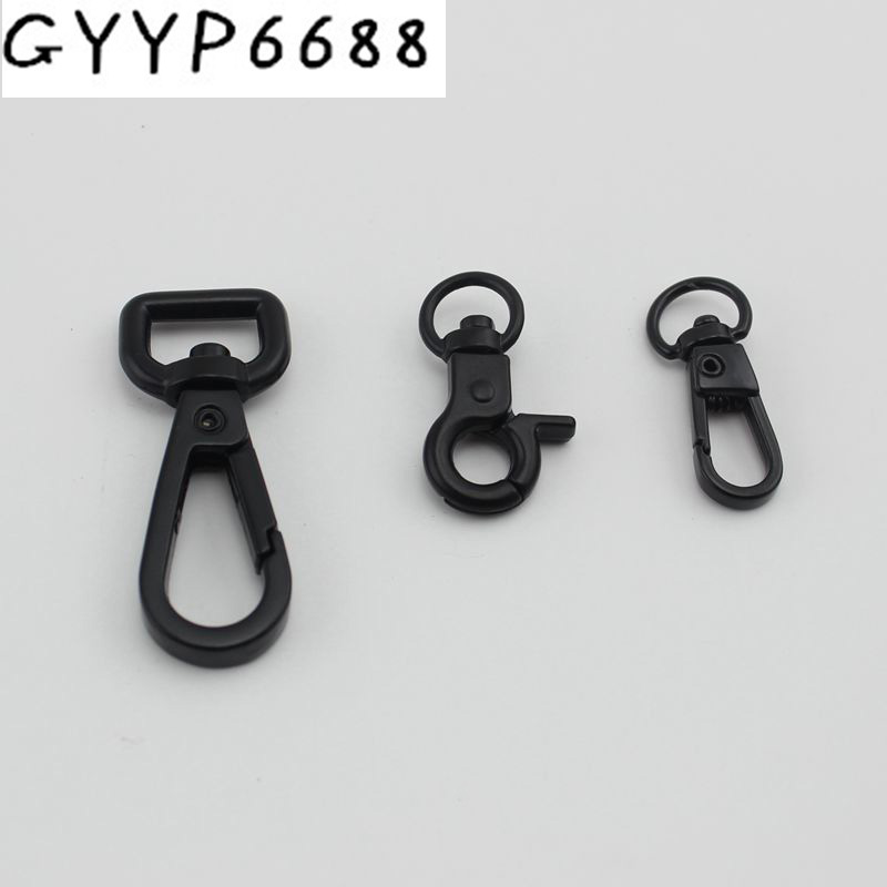 10pcs 30pcs 12mm 9mm Dark Gun Black Trigger Snap Hook Swivel Clasp Lobster Claws Swivel Hooks Hardware Hardware Accessories