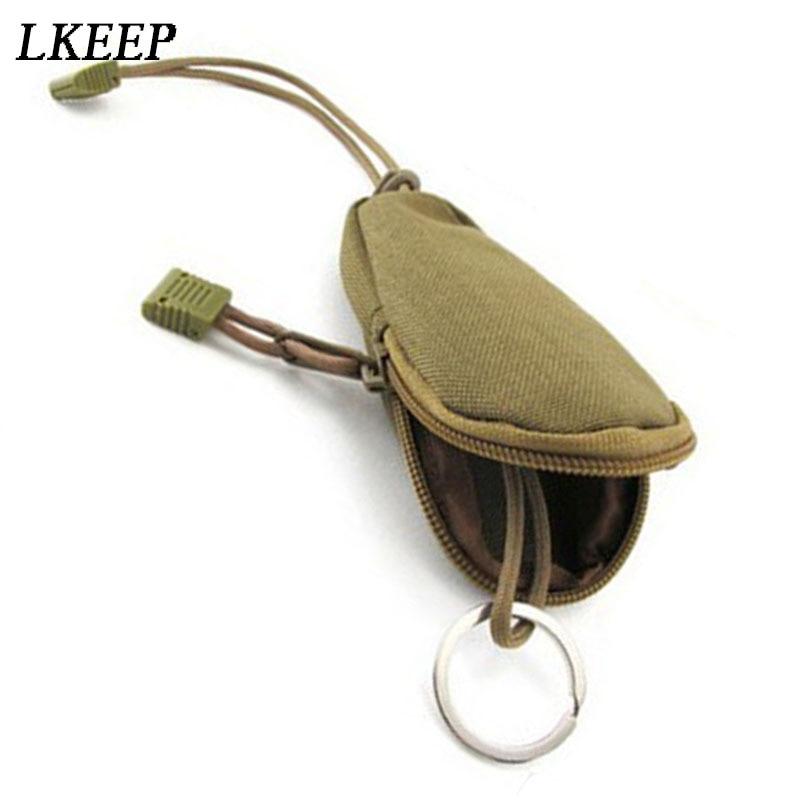 Unisex Mini Key Wallets Holder Waterproof Key Bag For Coins Bags Pouch Keychain Holder Case Bag Zipper EDC Tools Key Case