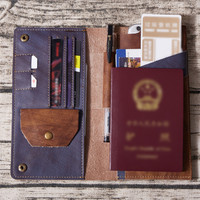 men's Genuine Leather Passport Cover man ID Business Card Holder Travel Credit Wallet for Men Purse Case cover on the passport